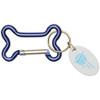 Dog Bone Carabiner with Promotional Imprint - Blue