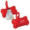 Custom Printed Bone Shaped Pet Waste Bag Dispenser - Red
