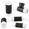 Dog Poop Bag Dispenser Flashlight with Custom Imprint - Black