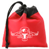 Promotional Drawstring Gift Bag Pouch with Custom Imprint - Red