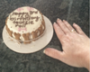 """Customized Cakes for Dogs - Actual Size (4.5"""" round x 2.25"""" high)"""