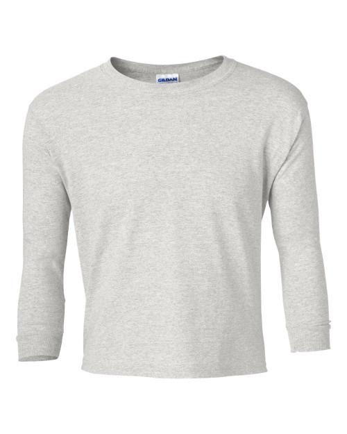 Custom printed youth t shirts gildan 240b long sleeve for Custom printed long sleeve t shirts