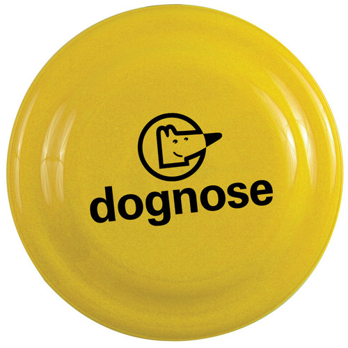 "7"" Custom Printed Frisbees, Dog Safe Flying Disks - Yellow"