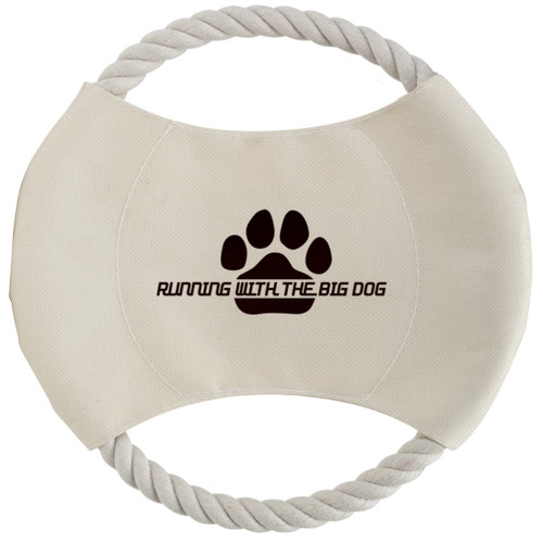 Toss N' Chew Doggy Rope Disk with Custom Promotional Imprint