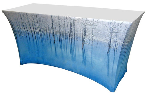All Over Printed 4' Spandex Fabric Table Cover