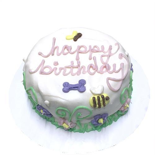 Customized Garden Themed Birthday Cakes for Dogs - Organic