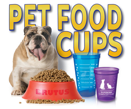 Customized Pet Food Measuring Cups Custom Dog Bowls