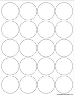 Template 2 inch square labels inkscissorspaper for 2 inch circle label template