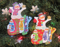Jolly Snowman Ornament Pattern Packet