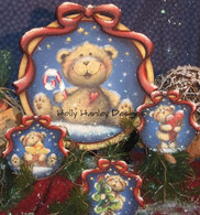 Candy Cane Bear and Ornies Pattern Packet