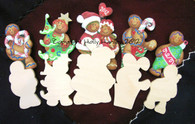 Ginger Christmas Wood set of 5