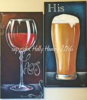 His & hers Wine & Beer Pattern Packet
