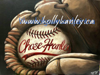 Baseball Glove Epacket by Holly Hanley Print at your own home