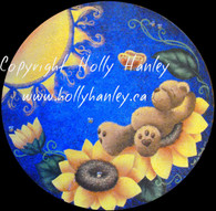 Sunflower Bear Stepping Stone by Holly Hanley