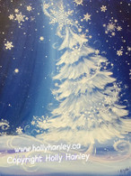Sparkling Snowflake Tree Epacket Print out at your own home