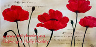 Poppies with Stenciling Pattern Packet