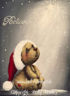 Believe Christmas Star Bear Pattern Packet