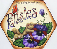 Pansies Stepping Stone Pattern Packet