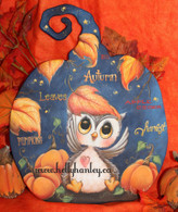 Autumn Owl Epacket Print at Home