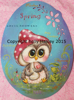 Springtime Owl Epacket Print at Home