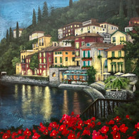 Dusk on Lake Como Eopacket Print at Home