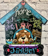 Paw Prints and Wiggle Butts by Holly Hanley Epacket Print at your home