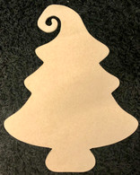 Christmas Tree with curl top wood piece