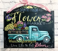 Flower Market Truck pattern packet