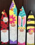 Spring Gnomes Fence Boards Epacket Print at your own home
