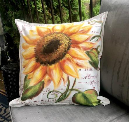 Sunflower Cushion Epacket by Holly Hanley