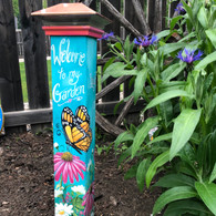 Butterfly Garden Garden Pole Epacket by Holly Hanley Print at Home
