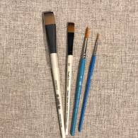 Set of 4 brushes needed to complete the Butterfly Garden Pole.  large wash/flat brush, 12 shader and two round brushes.