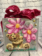 Daisy Bear Glass Block $10 Donation to maesdafavela