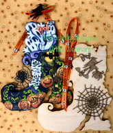 "Wood kit for Haunted Witches Shoe 8""x7"" with embellishments"