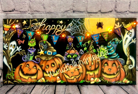 Halloween Party Copyright Holly Hanley 2020