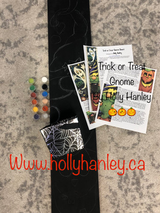 Trick or Treat Gnome Board Painting Kit