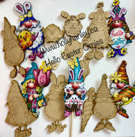 wood cut outs for Hello Easter Ornaments
