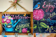Welcome to My Garden  & Enjoy the Little Things by Holly Hanley Copyright 2021
