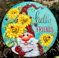 Hello Friends Ladybug Stepping Stone and flower pot by Holly Hanley