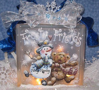 Frosty Friends Glass Block Pattern Packet