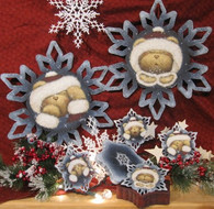 Frosty & Giggles Snowflake & Coaster Set Pattern Packet