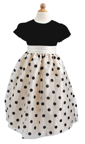Flower Girl Dress Selina Polka Dot-Wholesale