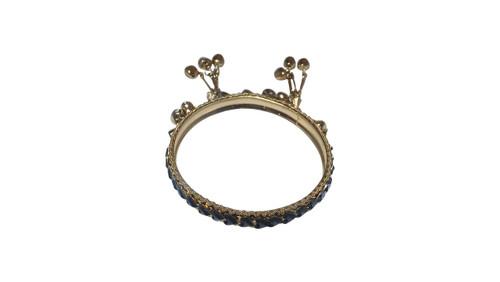 Black Gem Gold Bangle  Black bangle bracelet faux stones, and tiny bells. Made in India.