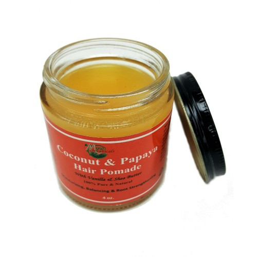 Coconut & Papaya Hair Pomade  Moisturizing, balancing and root strengthener.