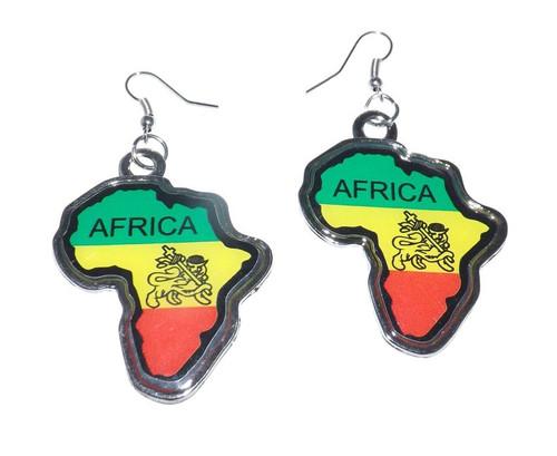 Lion of Judah Africa Map Earrings