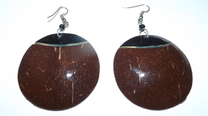 Natural Coconut Shell Earrings