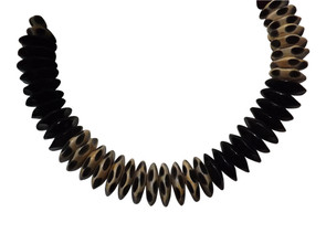 """Black & White Horn Necklace  nice collar necklace; 10"""" length hand crafted authentic horn necklace hook fastens"""