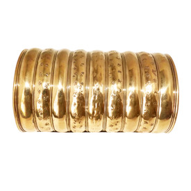 "Gold or Silver print cuffs 5"" in length/high (end to end) 1"" gap 7"" circumference"