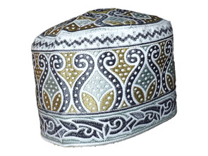 Embroidered Barkati Kufi Caps  Traditional Cotton hat for men Large size Hand embroidered Machine wash cold with like colors and lay flat to dry DO NOT wash in hot water (above 30 °C)