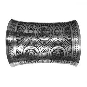 Silver Concave Cuff Bracelet